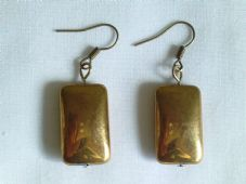 Gold Glass Bead Earrings